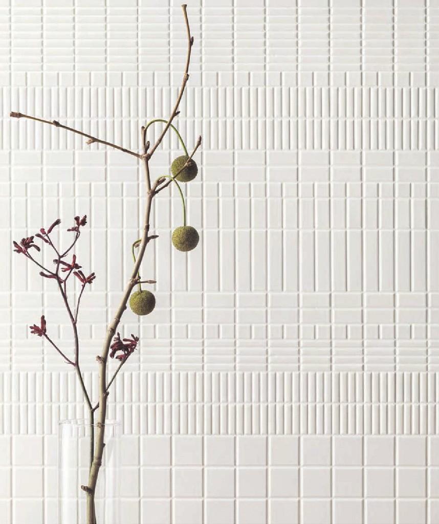 施工例:複数パターンを組み合わせることもできます。耐水性にも優れているため、内装壁はもちろん浴室壁もOK 。SB-9722-B1、4722-B1、4747-B1、2222-B1、4795-B1